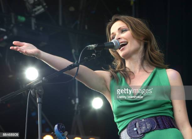 Sharon Corr performs at day two of the Isle of Wight Festival at Seaclose Park on June 13 2009 in Newport Isle of Wight