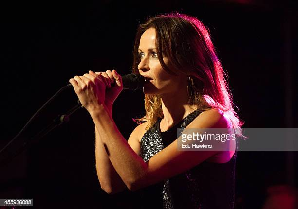 Sharon Corr performs on stage at O2 Academy on September 22 2014 in Oxford United Kingdom