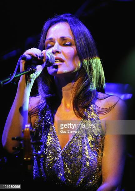 Sharon Corr performs on stage at O2 Islington Academy on August 24 2011 in London United Kingdom