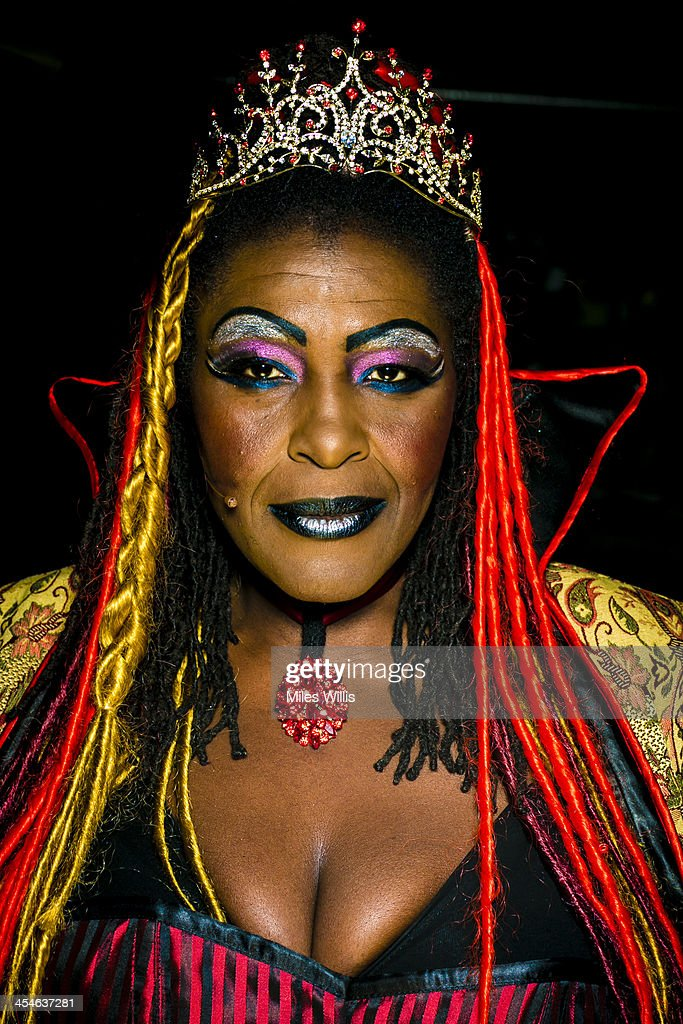 Sharon D Clarke playing 'Wicked Queen Talulah' poses for a portrait during the Puss in Boots pantomime at the Hackney Empire on December 6, 2013 in London, England.