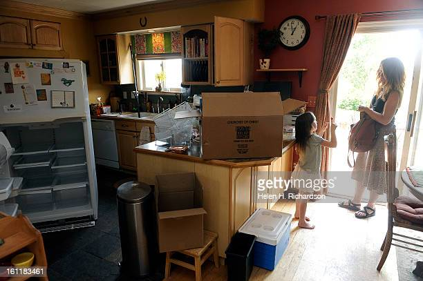 Sharon Docherty and her daughter Elin are in the kitchen of the family home Fran and Sharon Docherty were two of the over 300 residents allowed back...