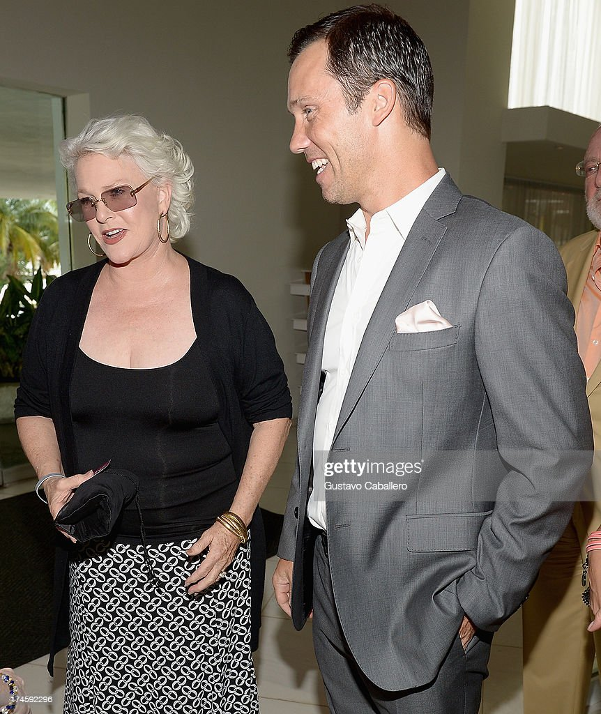 Sharon Gless and Jeffrey Donovan arrives at wrap party for 'Burn Notice' at Fontainebleau Miami Beach on July 27, 2013 in Miami Beach, Florida.