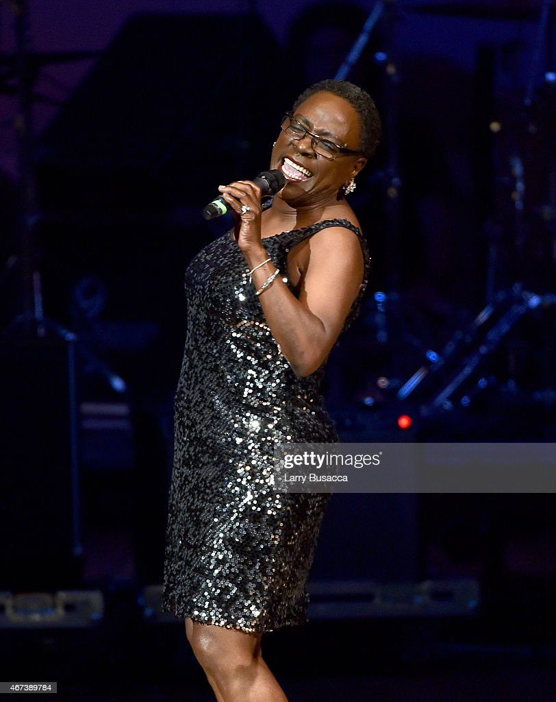Sharon Jones performs onstage during The Music Of David Byrne & Talking Heads at Carnegie Hall on March 23, 2015 in New York City.