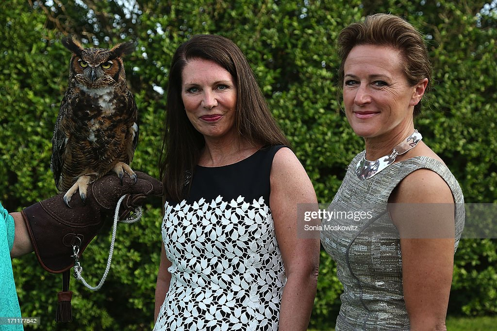 Sharon Kerr and Kim Renk attend Get Wild Event Benefiting Evelyn Alexander Wildlife Rescue Center at Private Residence on June 22, 2013 in Southampton, New York.