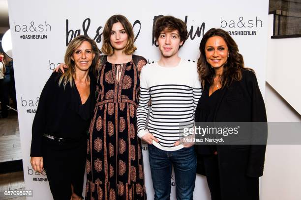 Sharon Krief Alma Jodorowsky David Baudart and Barbara Boccara attend the BaSh store opening on March 23 2017 in Berlin Germany