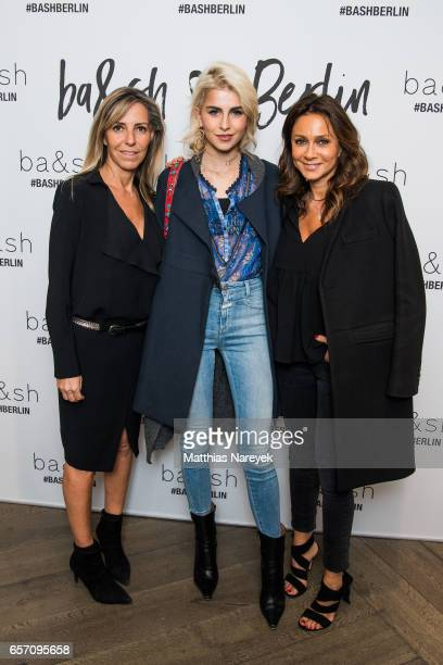 Sharon Krief Caro Daur and Barbara Boccara attend the BaSh store opening on March 23 2017 in Berlin Germany