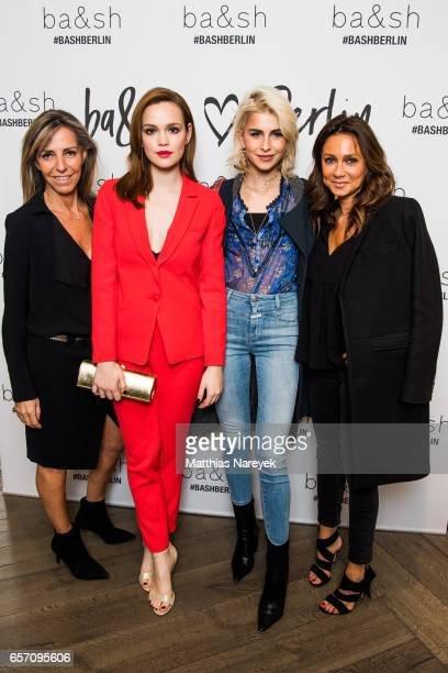Sharon Krief Emilia Schuele Caro Daur and Barbara Boccara attend the BaSh store opening on March 23 2017 in Berlin Germany