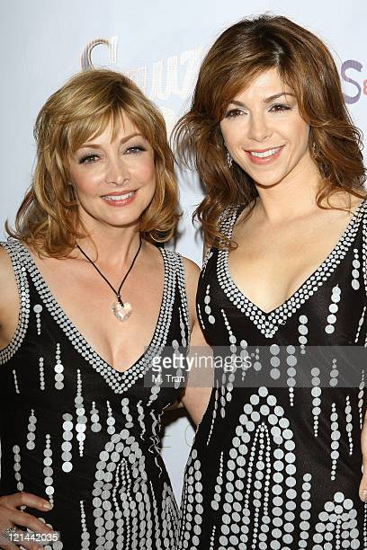 Sharon Lawrence and Amy Pietz during 'What A Pair 5' at The Orpheum in Los Angeles California United States