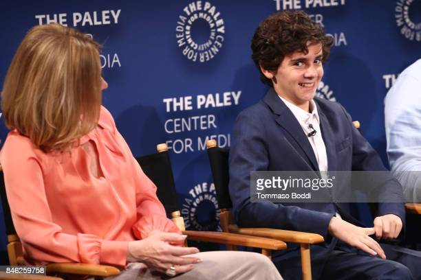 Sharon Lawrence and Jack Dylan Grazer attend the The Paley Center For Media's 11th Annual PaleyFest Fall TV Previews Los Angeles CBS at The Paley...
