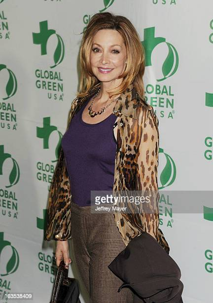Sharon Lawrence arrives at Global Green USA's 10th Annual PreOscar party at Avalon on February 20 2013 in Hollywood California