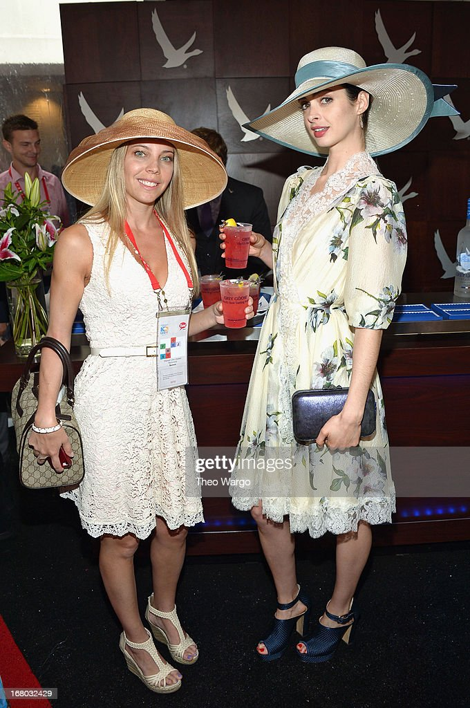 Sharon Lilien-Zwiebel and Krysten Ritter at the GREY GOOSE Red Carpet Lounge at the Kentucky Derby at Churchill Downs on May 4, 2013 in Louisville, Kentucky.