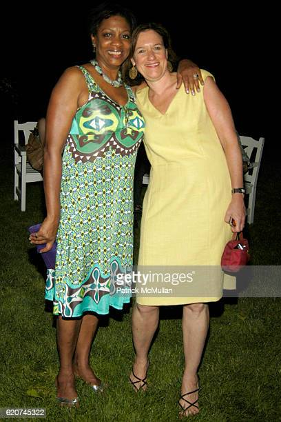 Sharon Lopez and Barbara Rubenstein attend The Rush Philanthropic 'ART FOR LIFE' Party hosted by Don and Katrina Peebles at The Home of Don and...