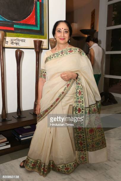 Sharon Lowen during a launch of businesswoman Priti Paul's debut book that aims at teaching alphabet in an Indian way at French Embassy on August 18...
