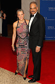 Sharon Malone and Eric Holder attend the 100th Annual White House Correspondents' Association Dinner at the Washington Hilton on May 3 2014 in...
