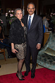 Sharon Malone and United States Attorney General Eric Holder attend Aretha Franklin's Birthday Celebration at the Ritz Carlton Hotel on March 22 2015...