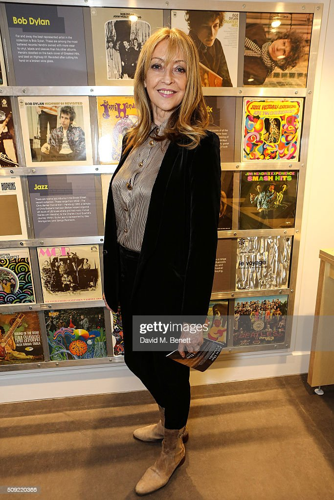 Sharon Maughan attends a private view of 'Hendrix At Home' at Jimi Hendrix's restored former Mayfair flat on February 9, 2016 in London, England.