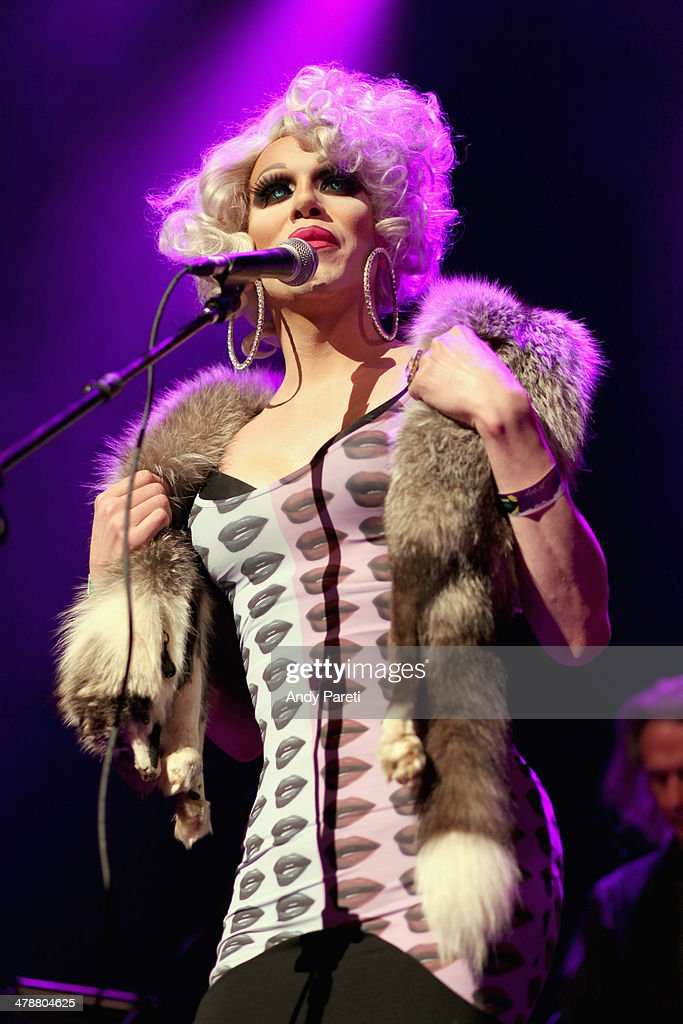 <a gi-track='captionPersonalityLinkClicked' href=/galleries/search?phrase=Sharon+Needles&family=editorial&specificpeople=8804153 ng-click='$event.stopPropagation()'>Sharon Needles</a> perform onstage at the Lou Reed Tribute during the 2014 SXSW Music, Film + Interactive Festival at Paramount Theatre on March 14, 2014 in Austin, Texas.