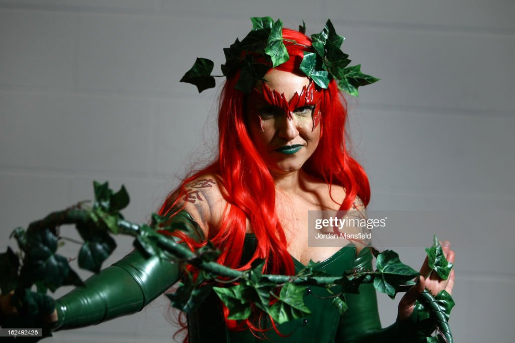 Sharon O'Brien from Wallington dressed in costume poses for a photo at the London Super Comic Convention at the ExCeL Centre on February 23, 2013 in London, England. Enthusiasts at the Comic Convention are encouraged to wear a costume of their favourite comic character and flock to the ExCeL to gather all the latest news in the world of comics, manga, anime, film, cosplay, games and cult fiction.