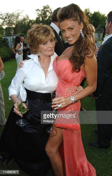 Sharon Osbourne and Katie Price aka Jordan during The 8th Annual White Tie and Tiara Ball to Benefit the Elton John AIDS Foundation in Association...