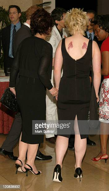 Sharon Osbourne and Kelly Osbourne during ACLU Foundation Of Southern California's 'Torch Of Liberty Award' Honoring Van Toffler and The...