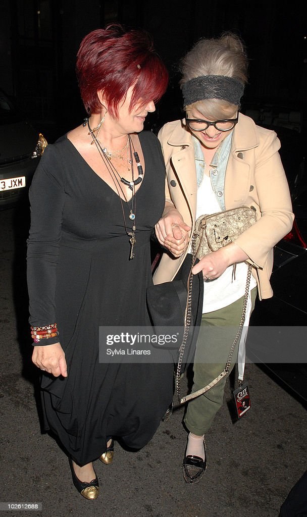 Sharon Osbourne and Kelly Osbourne sighting at their hotel on July 3, 2010 in London, England.
