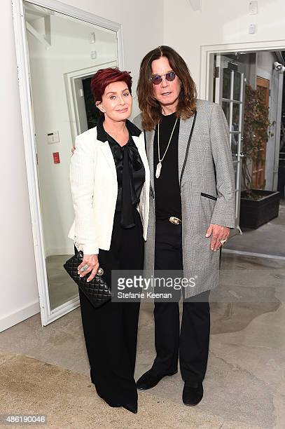 Sharon Osbourne and Ozzy Osbourne attend The A List 15th Anniversary Party on September 1 2015 in Beverly Hills California
