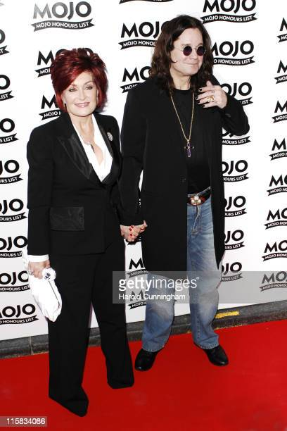 Sharon Osbourne and Ozzy Osbourne during MOJO Honours List 2007 Arrivals at The Brewery in London United Kingdom