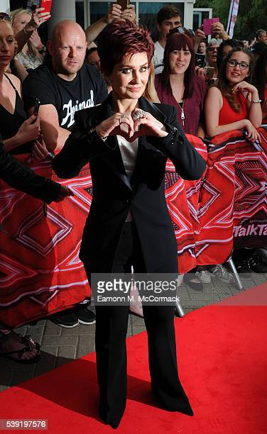 Sharon Osbourne arrives for the first X Factor auditions of 2016 on June 10 2016 in Leicester United Kingdom