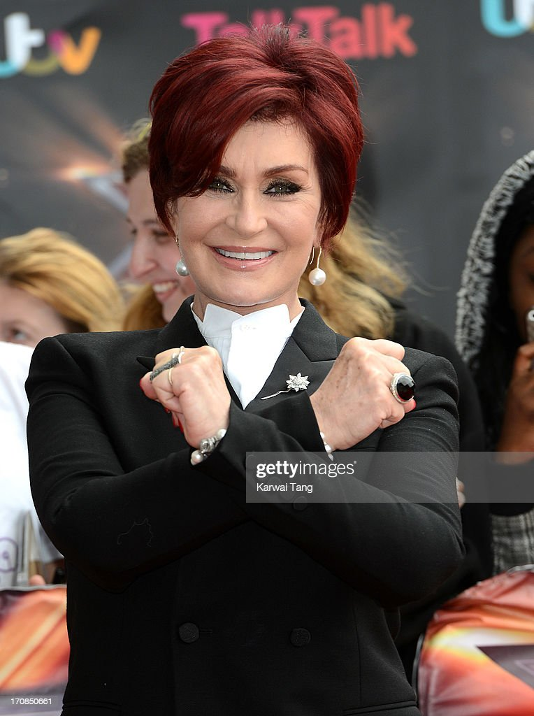 Sharon Osbourne arrives for the London auditions of 'The X Factor' at ExCel on June 19, 2013 in London, England.