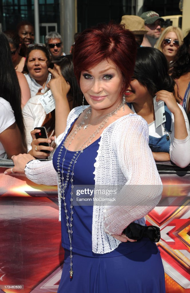 Sharon Osbourne arrives for the London auditions of The X Factor at Wembley Arena on July 15, 2013 in London, England.