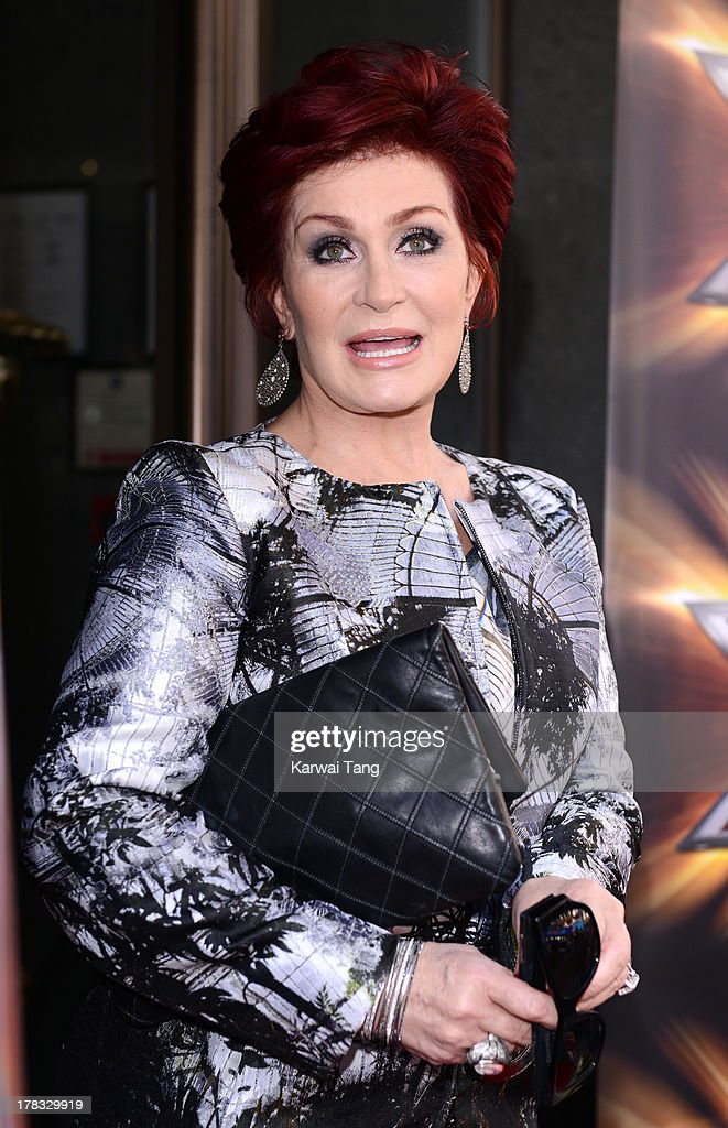 Sharon Osbourne arrives for the X-Factor Press Launch held at The Mayfair Hotel on August 29, 2013 in London, England.