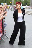 Sharon Osbourne arrives for X Factor auditions at Wembley Arena on July 9 2016 in London England