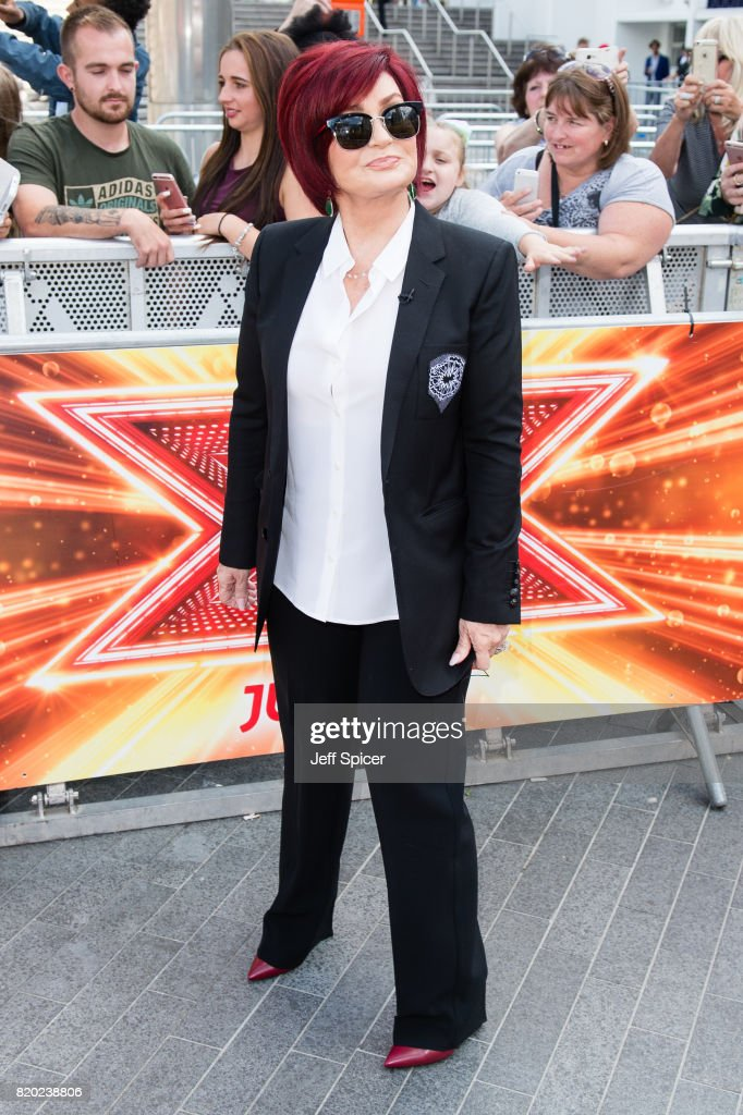 Sharon Osbourne arriving at The X Factor Bootcamp auditions at Wembley Arena on July 21, 2017 in London, England.