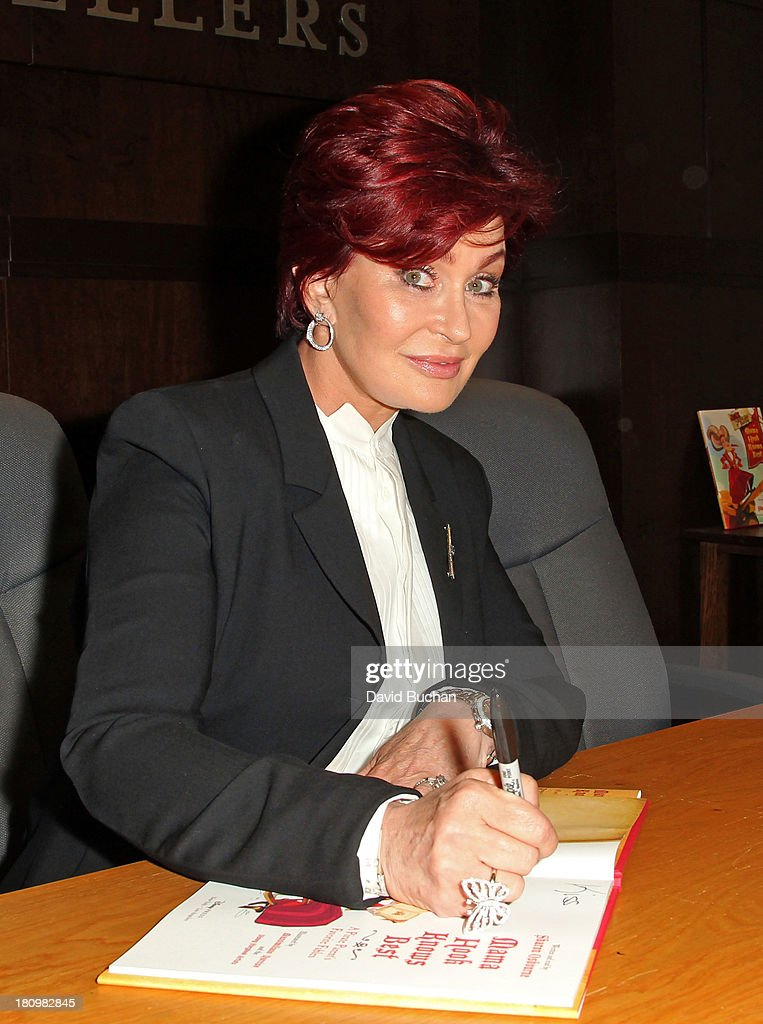 Sharon Osbourne attends a book signing for 'Mama Hook Knows Best: A Pirate Parent's Favorite Fables' at Barnes & Noble bookstore at The Grove on September 18, 2013 in Los Angeles, California.
