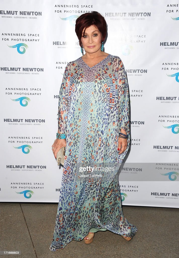 Sharon Osbourne attends the opening of 'Helmut Newton: White Women - Sleepless Nights - Big Nudes' at Annenberg Space For Photography on June 27, 2013 in Century City, California.