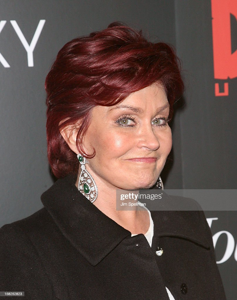 Sharon Osbourne attends The Weinstein Company with The Hollywood Reporter, Samsung Galaxy & The Cinema Society screening of 'Django Unchained' at the Ziegfeld Theatre on December 11, 2012 in New York City.