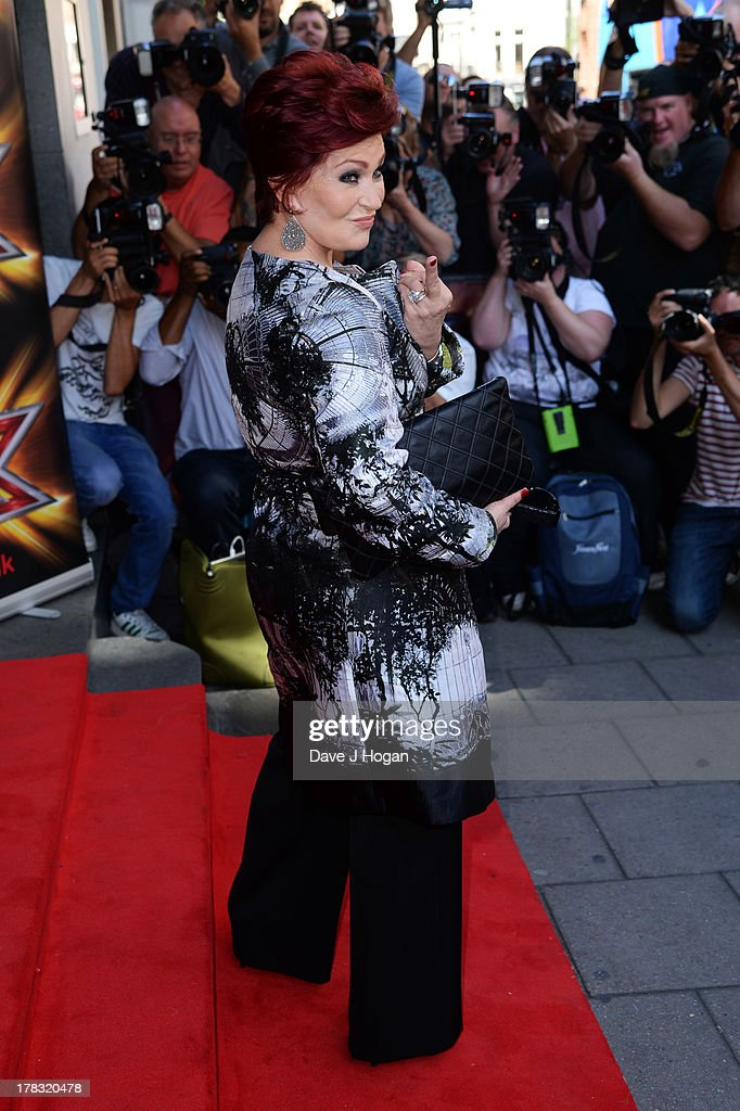 Sharon Osbourne attends The X Factor press launch at The Mayfair Hotel on August 29, 2013 in London, England.