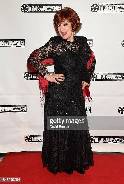 Sharon Osbourne impersonator Caroline Bernstein of the United Kingdom attends The Reel Awards 2017 at the Golden Nugget Hotel Casino on February 20...