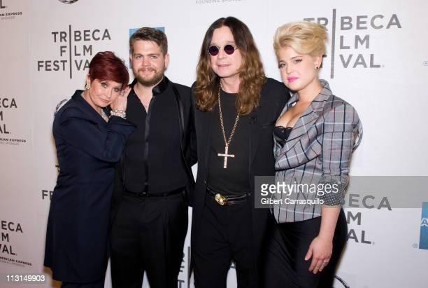 Sharon Osbourne Jack Osbourne Ozzy Osbourne and Kelly Osbourne attend the premiere of 'God Bless Ozzy Osbourne' during the 10th Annual Tribeca Film...