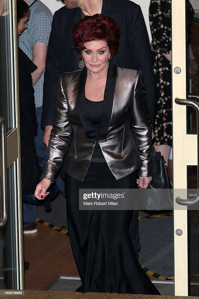 <a gi-track='captionPersonalityLinkClicked' href=/galleries/search?phrase=Sharon+Osbourne&family=editorial&specificpeople=203094 ng-click='$event.stopPropagation()'>Sharon Osbourne</a> leaving Fountain Studios after filming the X Factor live show on October 26, 2013 in London, England.