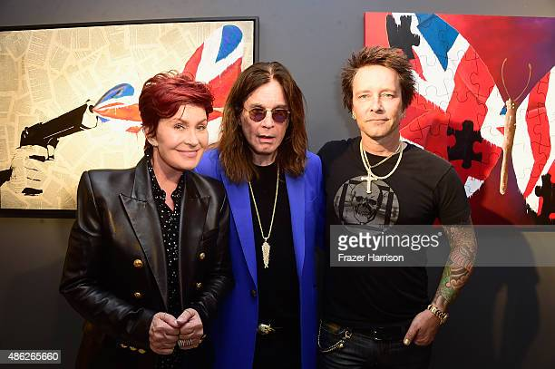 Sharon Osbourne Ozzy Osbourne and Billy Morrison attend an VIP Opening Reception For 'DisEase' An Evening Of Fine Art With Billy Morrison at Mouche...