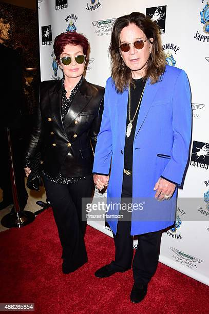 Sharon Osbourne Ozzy Osbourne attend an VIP Opening Reception For 'DisEase' An Evening Of Fine Art With Billy Morrison at Mouche Gallery on September...