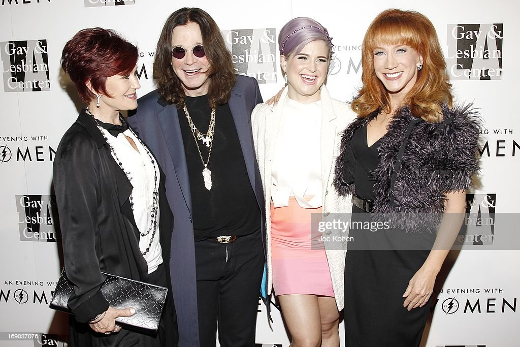 <a gi-track='captionPersonalityLinkClicked' href=/galleries/search?phrase=Sharon+Osbourne&family=editorial&specificpeople=203094 ng-click='$event.stopPropagation()'>Sharon Osbourne</a>, <a gi-track='captionPersonalityLinkClicked' href=/galleries/search?phrase=Ozzy+Osbourne&family=editorial&specificpeople=138608 ng-click='$event.stopPropagation()'>Ozzy Osbourne</a>, <a gi-track='captionPersonalityLinkClicked' href=/galleries/search?phrase=Kelly+Osbourne&family=editorial&specificpeople=156416 ng-click='$event.stopPropagation()'>Kelly Osbourne</a> and <a gi-track='captionPersonalityLinkClicked' href=/galleries/search?phrase=Kathy+Griffin&family=editorial&specificpeople=203161 ng-click='$event.stopPropagation()'>Kathy Griffin</a> attend the L.A. Gay & Lesbian Center's 2013 'An Evening With Women' Gala at The Beverly Hilton Hotel on May 18, 2013 in Beverly Hills, California.