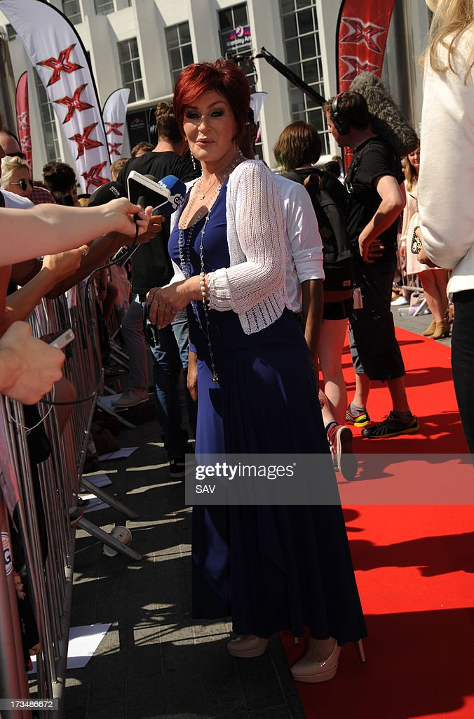 Sharon Osbourne pictured arriving at Wembley Arena for the X Factor auditions on July 15, 2013 in London, England.
