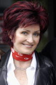 Sharon Osbourne poses for photos after auditioning hundreds of hopeful musicians for their new TV show 'X Factor' on July 6 2004 at Jury's Hotel...