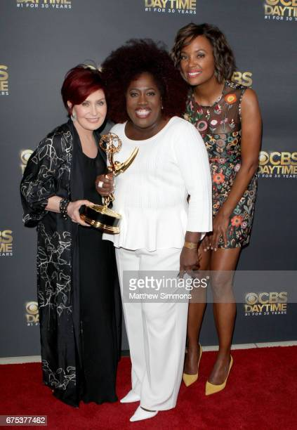 Sharon Osbourne Sheryl Underwood and Aisha Tyler attend the CBS Daytime Emmy after party at Pasadena Civic Auditorium on April 30 2017 in Pasadena...