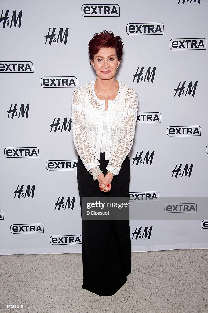 Sharon Osbourne visits 'Extra' at their New York studios at H&M in Times Square on September 8, 2015 in New York City.