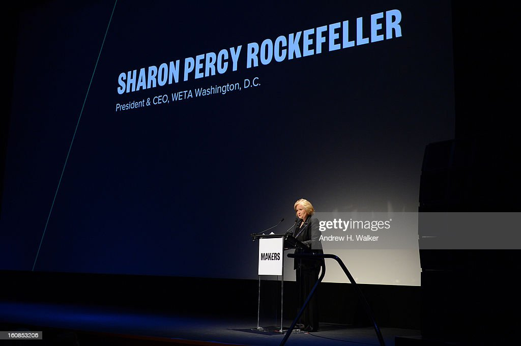 Sharon Percy Rockefeller speaks at the red carpet premiere of