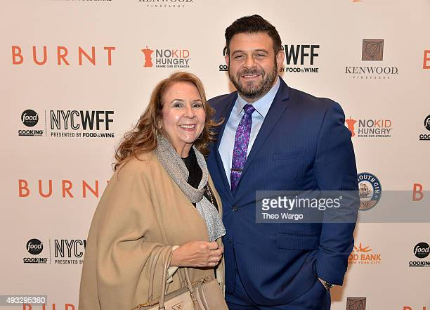 Sharon Richman and Adam Richman attend the Private Screening Of BURNT QA Panel And Reception With Bradley Cooper And Sienna Miller during Food...