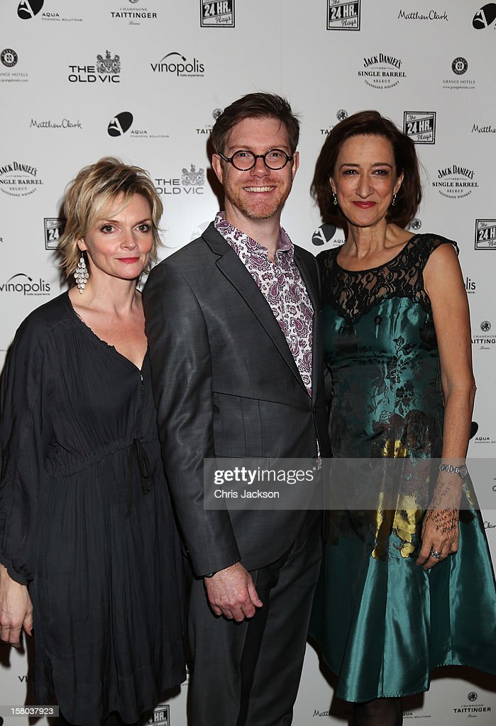 Sharon Small, Grant Olding and Haydn Gwynne attend the post-show party, The 25th Hour, following The Old Vic's 24 Hour Musicals Celebrity Gala 2012 during which guests drank Jack Daniels Single Barrel, Curtain Raiser cocktails in The Great Halls, Vinopolis, Borough on December 9, 2012 in London, England.